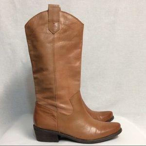Franco Sarto Walinda Cowboy Western Boots Tan 8M